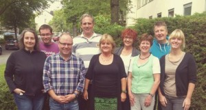Das Beratungsteam: L. Ersöz (Sozialpädagogin), R. Dickau (Beratungslehrer), R. Wörmann (didakt. Leiter), M. Doukmak (Sozialpädagoge), E. Weber (Abteilungsleiterin II), I. Oertel (Beratungslehrerin), C. Schenk-Heuser (Abteilungsleiterin II), B. Winter (Beratungslehrer), S. Hatzfeld (Beratungslehrerin)